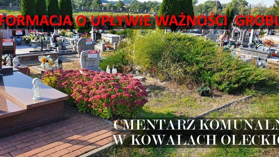 Informacja dot. opłat za korzystanie z Cmentarza Komunalnego w Kowalach Oleckich